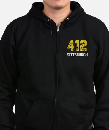 Cute Us area code state area code Zip Hoodie (dark)