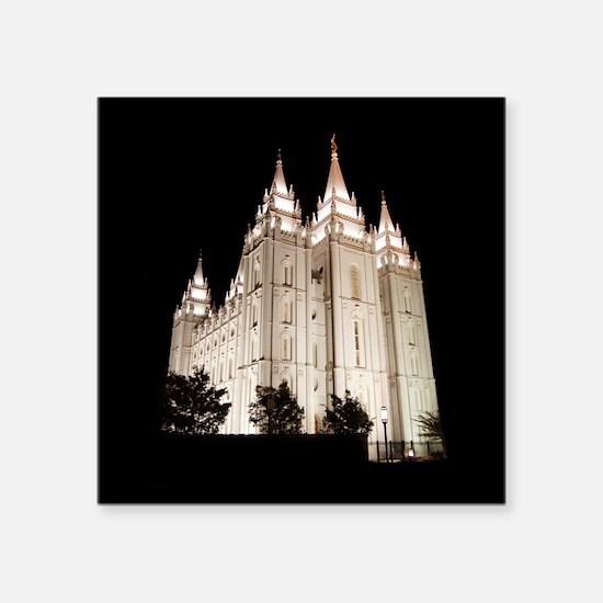 Salt Lake Temple Lit Up at Night Sticker