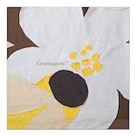 "Bee&Blossom Square Car Magnet 3"" x 3"""