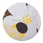 Bee&Blossom Round Car Magnet