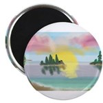 Sunset Island Magnets