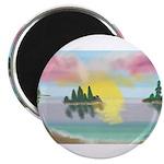 Sunset Island Magnets