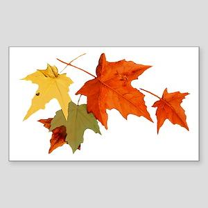 Autumn Colors Rectangle Sticker