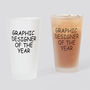 Graphic Designer of the Year Drinking Glass