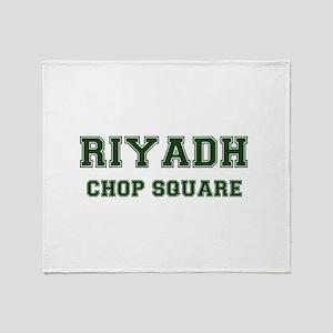 RIYADH- CHOP SQUARE Throw Blanket