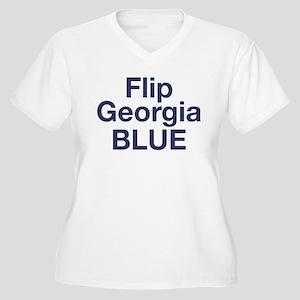 Flip Georgia Blue Plus Size T-Shirt