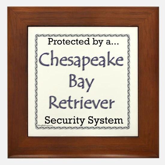 Chessie Security Framed Tile