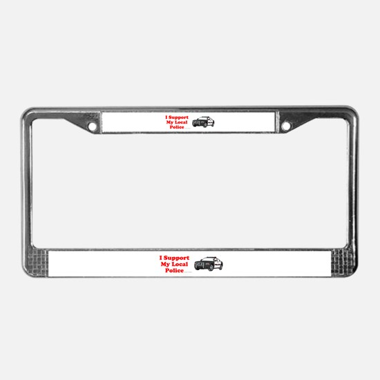 Support Local Police License Plate Frame