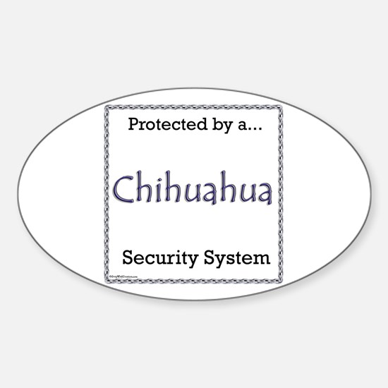 Chihuahua Security Oval Decal