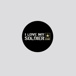 U.S. Army: I Love My Soldier (Black) Mini Button