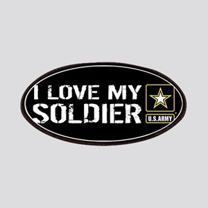 U.S. Army: I Love My Soldier (Black) Patch