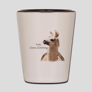 Llama Llistening Shot Glass