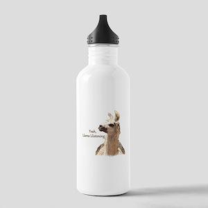 Llama Llistening Water Bottle