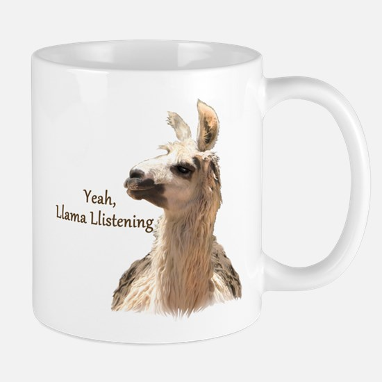 Llama Llistening Mugs