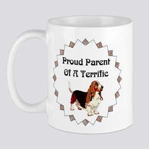 Proud Parent Of A Terrific Basset Hound Mugs