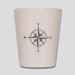 Compass Rose Shot Glass