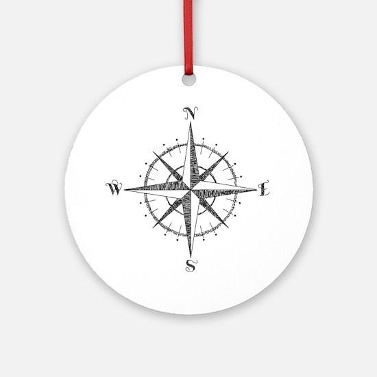 Compass Rose Round Ornament