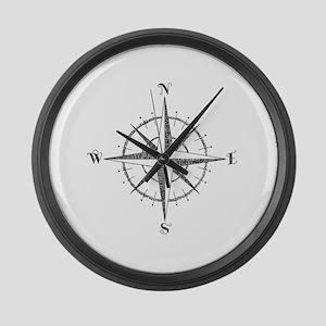 Compass Rose Large Wall Clock