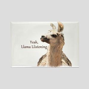 Llama Llistening Magnets