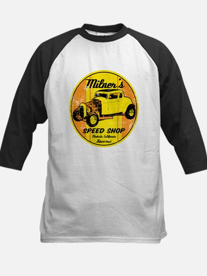 Milner's Speed Shop Baseball Jersey