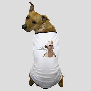 Llama Llistening Dog T-Shirt