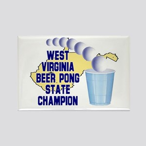 West Virginia Beer Pong State Rectangle Magnet