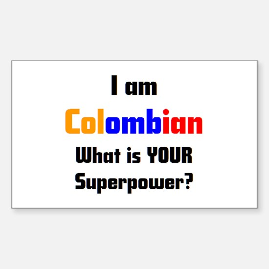 i am colombian Sticker (Rectangle)