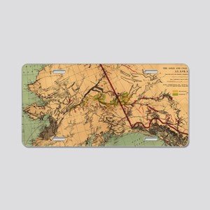 Vintage Map of Gold and Coa Aluminum License Plate