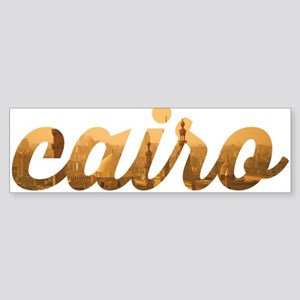 Cairo in Gold Bumper Sticker