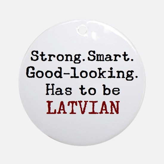 be latvian Round Ornament
