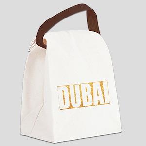 Dubai in Gold Canvas Lunch Bag