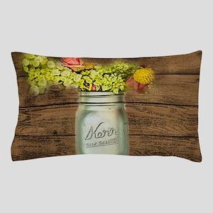 country mason jar wild flower Pillow Case
