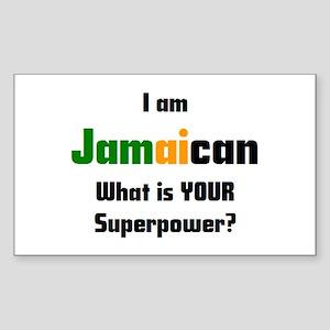 i am jamaican Sticker (Rectangle)