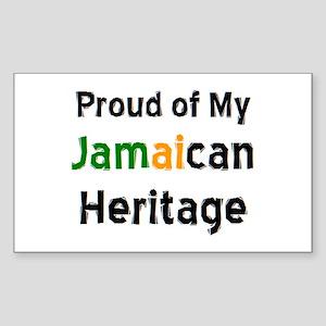 jamaican heritage Sticker (Rectangle)