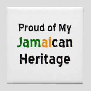 jamaican heritage Tile Coaster