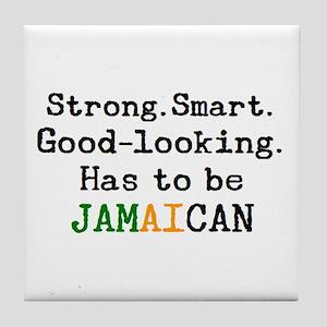 be jamaican Tile Coaster