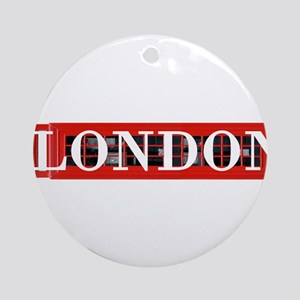London Red Telephone Box Round Ornament