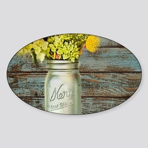 country mason jar flower Sticker