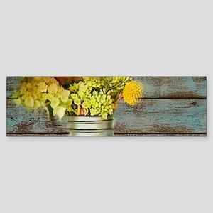 western country mason jar flower Bumper Sticker