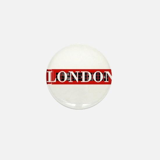 London Red Telephone Box Mini Button
