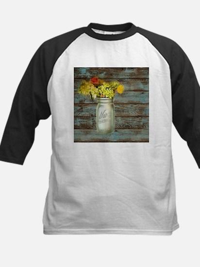 western country mason jar flower Baseball Jersey