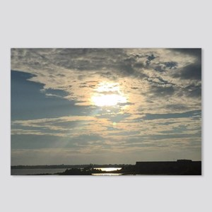 glorious sun and clouds Postcards (Package of 8)