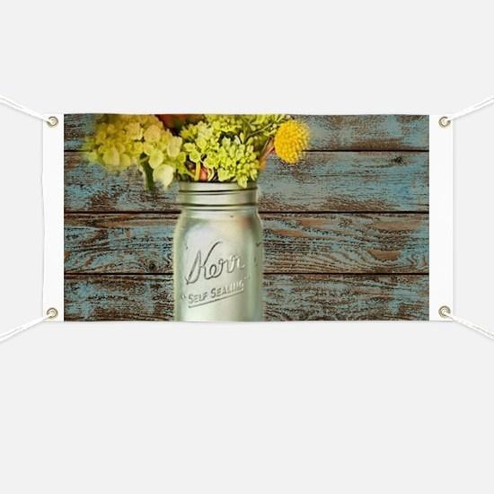 western country mason jar flower Banner