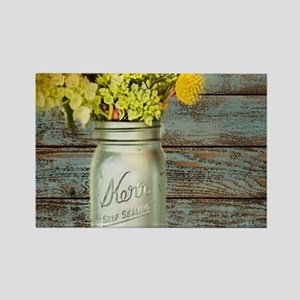 country mason jar flower Magnets