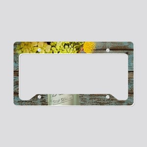 western country mason jar flo License Plate Holder