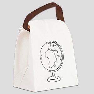 Minimalist Globe Canvas Lunch Bag