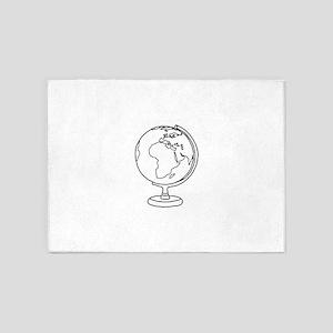 Minimalist Globe 5'x7'Area Rug