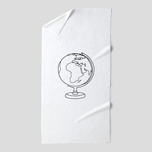 Minimalist Globe Beach Towel