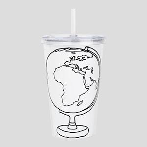 Minimalist Globe Acrylic Double-wall Tumbler
