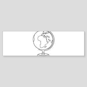 Minimalist Globe Bumper Sticker